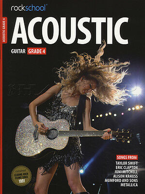 Rockschool Acoustic Guitar Grade 4 TAB Music Book with Audio Access Tests Exams