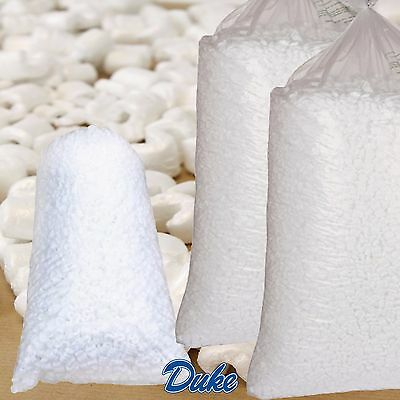 """30 x CUBIC FEET """"POLYSTYRENE"""" LOOSE FILL PACKING PEANUTS QUALITY (2 BAGS) CHEAP"""