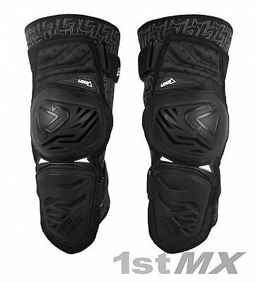 Leatt 3DF ENDURO Knee Guards Black Motocross Off Road Adults Large XLarge PAIR