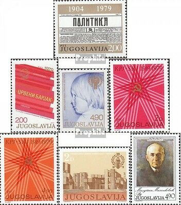 Yugoslavia 1777,1778,1779,1784-85, 1786,1793 (complete issue) unmounted mint / n