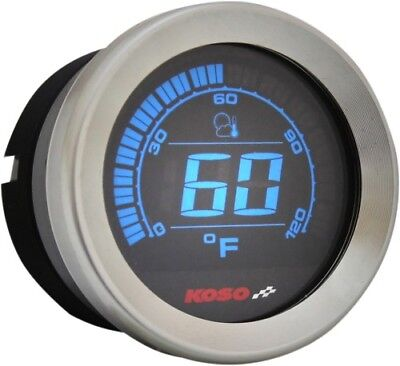 Koso North America - BA050000 - 2in. Ambient Air Temperature Gauge, Chrome