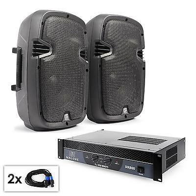 """Pack sono complet pro DJ PA amplificateur 2xenceintes 8"""" 2x100W RMS cablage neuf"""