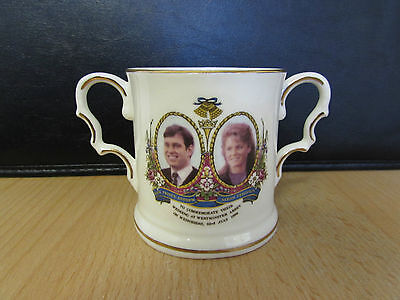 Fenton 1986 Loving Cup Marriage Of Prince Andrew To Sarah Ferguson - Bone China