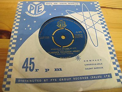 """7N.25115 Uk 7"""" 45Rpm 1961 Clarence Henry """"standing In The Need Of Love"""" Ex-"""