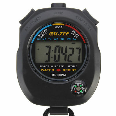 New Waterproof Digital Handheld Sports Stopwatch Chronograph Counter Timer Watch