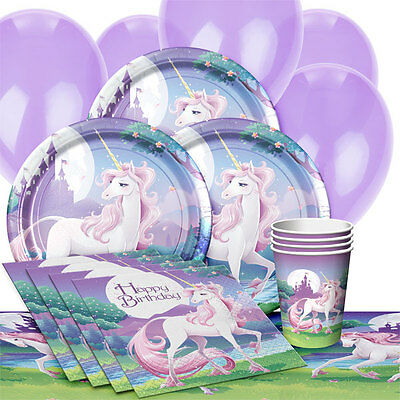 Magic Unicorn Party Pack/Kit For 16 Girls Birthday - Tableware Decorations