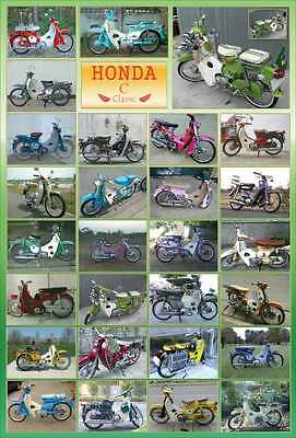 "HONDA CLASSIC MOTORCYCLE BIKE VINTAGE THE POSTER 24""x36"" NEW SIDE SHEET O-901"