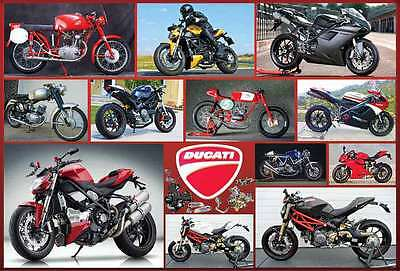 "DUCATI MOTORCYCLE BIKE VINTAGE RACING THE POSTER 24""x36"" NEW SIDE SHEET O-7123"