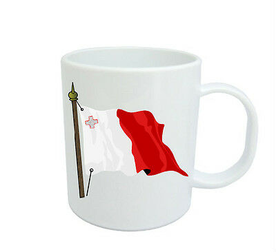 Maltese Flag  Coffee Mug Free Personalisation  Malta