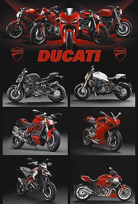 "DUCATI MOTORCYCLE BIKE SPORT RACING THE POSTER 24""x36"" NEW SIDE SHEET O-7323"