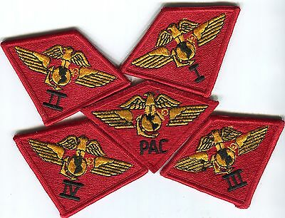USMC All 5 Marine AirWings. 4 are Merrowed edge for Natl. Guard former unit wear