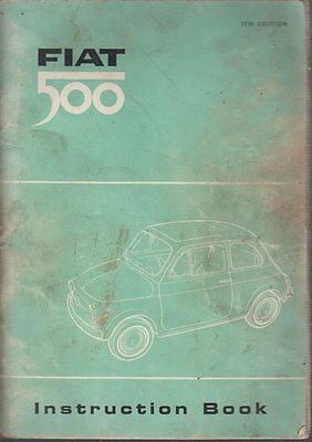Fiat 500 ( Type 110F ) Original 1965 Owners Instruction Handbook