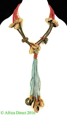 Fulani Necklace Seed Trade Beads Red Africa