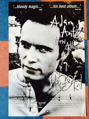 ADAM ANT Wonderfull album *Rare Vintage Poster EMI Records 1995