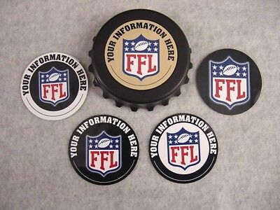 Personalized Fantasy Football Ffl Bottle Opener Magnet Award Gift Trophy Cool!