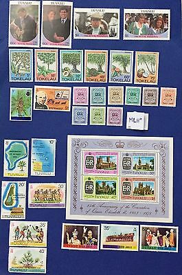 Tokelau Island  & Tuvalu 1976/86 Lot Of 9 V.+1 Sheet Mnh**+ 21 Stamp Mlh* Spl
