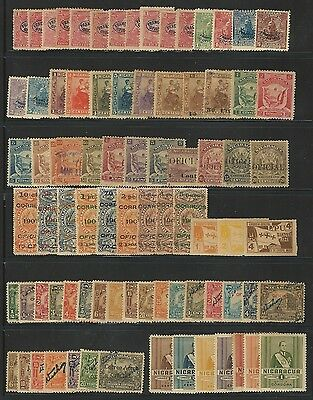 Nicaragua: Lot 100 diff. stamps official,some used hinged,diff condition... NI27
