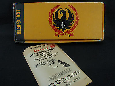 Ruger Security-Six Factory Cardboard Revolver Box & Manual