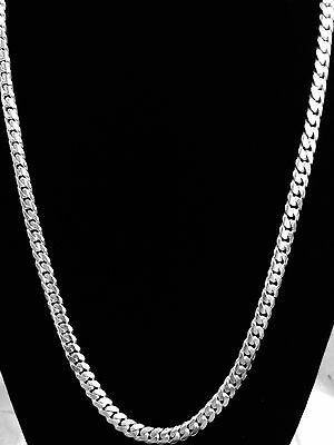 "Miami Cuban Link Chain Sterling Silver Men's , 26"" 7mm.  100 Grams"