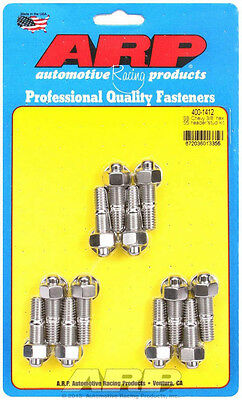 Arp Header Stud 1.670 In Hex Nuts Polished Sbc 12 Pc Part Number 400-1412
