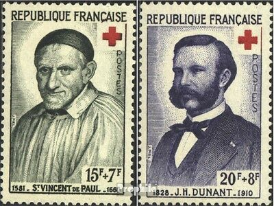 France 1224-1225 (complete issue) unmounted mint / never hinged 1959 Red Cross