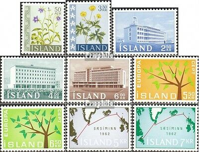 Iceland 359-367 mint never hinged mnh 1962 Complete Volume