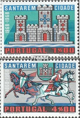 Portugal 1109-1110 fine used / cancelled 1970 Charter for Santarém
