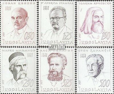 Yugoslavia 1363-1368 (complete issue) unmounted mint / never hinged 1970 Persona