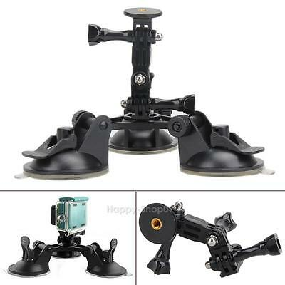 1/4'' Screw Suction Cup Tripod Car Mount fr Gopro Hero 5 Session SJCAM Camera