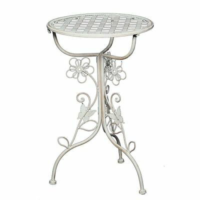 G1179: Romantic Art Nouveau Flower Table, Side Table, Nostalgia Iron Table