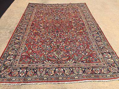 """Hand Knotted Persian Sarouk  Rug All Over design,semi antique 8x10,7'1""""x10'8"""""""