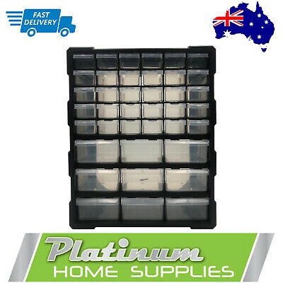 Storage Cabinet  Drawers 39 Plastic Tool Boxes Containers Organiser Cupboard