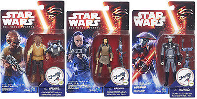 Star Wars Force Awakens Admiral Ackbar Tasu Leech & Fifth Brother 3 figure  set