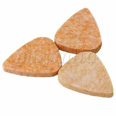 Ukulele Plektrum Plektron Picks aus Filz Plektren Farbe Orange Set of 10