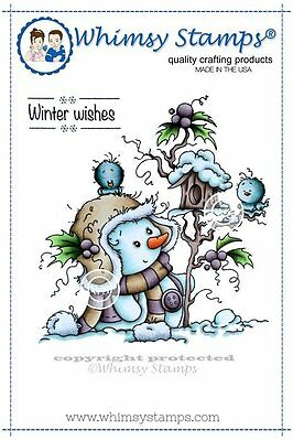 Whimsy Stamps - Cling Mounted Rubber Stamp - Miss Frosty - Christmas