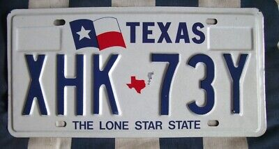 TEXAS Flag - nice old retro AMERICAN LICENSE NUMBER PLATE #TxFlag