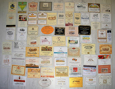 Lot 65 Wine Labels Region Of The  Cotes Du Rhone French Corbieres Chateauneuf +