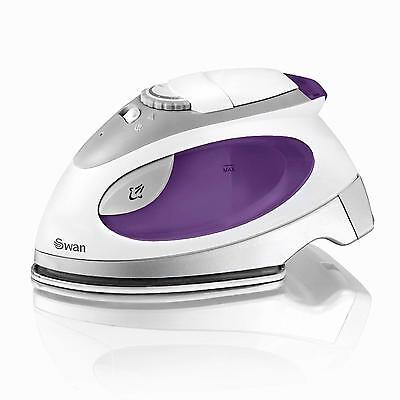Swan Dual Voltage Steam Travel Iron Pouch Stainless Steel Base Plate - Brand New