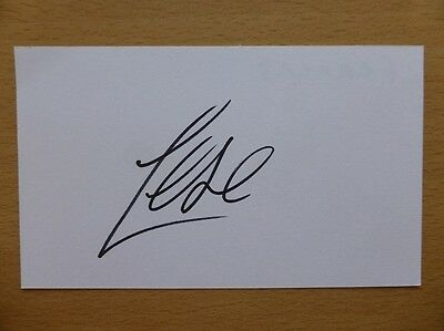 Hand Signed Football Index Cards *****F***** Page 1