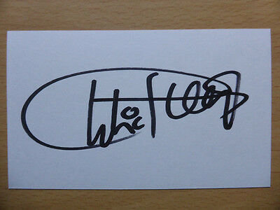 Hand Signed Football Index Cards *****G***** Page 1