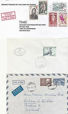Ice Hockey 3 stamps on covers