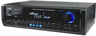 300-Watt Bluetooth Home Theater Stereo Receiver w/ MP3, USB, SD and 2 Mic Inputs