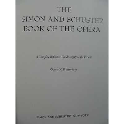 The Simon and Schuster Book of the Opera 1979  Partition Sheet Music Spartiti Pa
