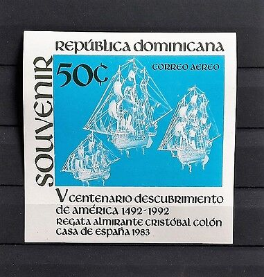 Dominican Republic 1984: Discovery of America - Imperf. MNS Ss - Sc. C391