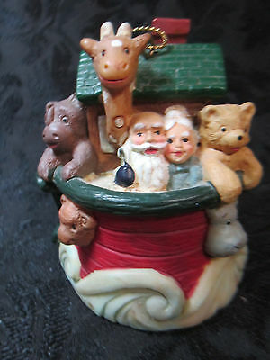 Noah's Ark Hanging Christmas Ornament Holiday Religious Animals Bible Story
