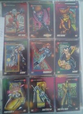 Lot of Approx.109  1992 Marvel Trading Cards