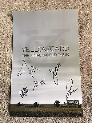 Yellowcard Signed Poster Final World Tour