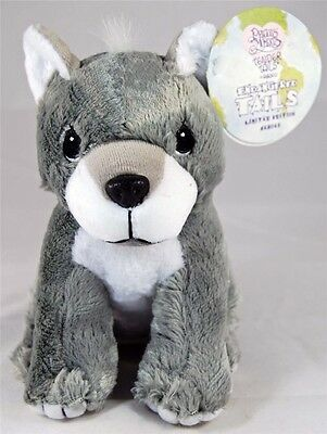 Precious Moments Tender Tails Endangered Gray Wolf Limited Edition Plush - New
