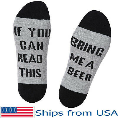 Bring Me Beer Socks If You Can Read This Embroidered Cotton Men and Women Warm