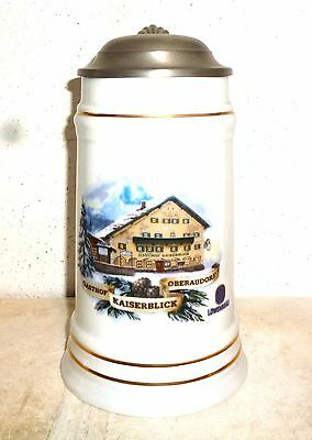 Lowenbrau Munich Premium Gasthaus Locations lidded German Beer Stein